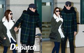 """Bi Rain và Kim Tae Hee lại """"dính như sam"""", nắm tay không rời khi trở về Hàn Quốc"""