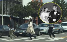 Lộ loạt ảnh hiếm hoi vợ chồng Kim Tae Hee và Bi Rain vội vàng trên đường phố Mỹ