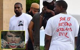 """Bị xỉa xói trong MV """"LWYMMD"""", Kanye liền diện áo in khẩu hiệu to đùng để chế giễu lại Taylor Swift?"""