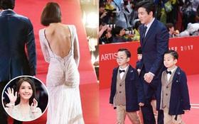 """Thảm đỏ LHP Busan 2017: Quá nhiều sao nhí gây sốc vì """"lột xác"""", dàn mỹ nhân ngoan hiền liên tục lộ hàng"""