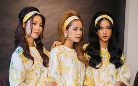 """Chi Pu đẹp quý phái, hoá """"chị em sinh ba"""" với Diễm My 9X và Châu Bùi"""