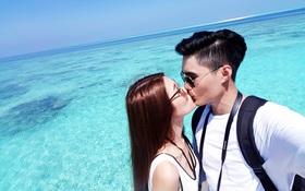 Quang Hùng – Quỳnh Châu khoe ảnh khóa môi hạnh phúc tại thiên đường Maldives