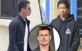 """Pax Thiên """"mặt khó đăm đăm"""" khi đi trị liệu tâm lý với Brad Pitt"""