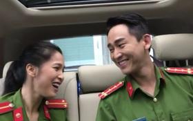 """Clip: Hứa Vĩ Văn và Nhung Kate diện trang phục công an, ngẫu hứng song ca """"Cơn mưa tình yêu"""""""