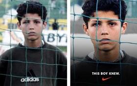 """Thấy Cristiano Ronaldo mặc áo adidas, Nike đã """"chế ảnh"""" luôn thành áo của mình"""