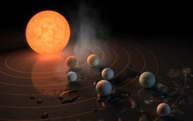 """Tìm ra một """"Hệ Mặt trời"""" version 2: 7 hành tinh giống Trái đất, hoàn hảo để có sự sống ngoài hành tinh"""