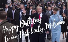 Tổng thống Donald Trump chúc mừng sinh nhật Đệ nhất phu nhân trên Twitter
