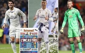 Man Utd dùng De Gea và 183 triệu bảng, đổi lấy Ronaldo và Morata