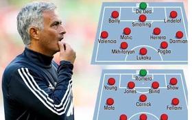 Giờ thì Mourinho đã có 2 đội hình xoay tua ở Man Utd