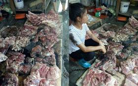 Hải Phòng: Phẫn nộ clip người phụ nữ bị hắt dầu luyn trộn chất thải khắp sạp thịt chỉ vì bán thịt lợn giá rẻ