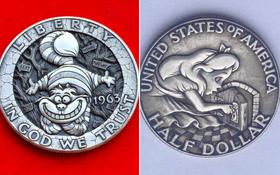 Nghệ thuật điêu khắc biến những đồng xu cũ trở thành tranh nổi chân thực