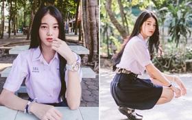 Chỉ cần diện đồng phục học sinh thôi, cô bạn Thái Lan sinh 2000 đã xinh hết phần người ta!