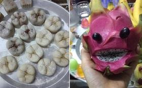 """Phát hiện mới: Bánh Trung thu hình chiếc răng sâu, mâm cỗ trái cây """"hóa trang"""" như chơi Halloween"""