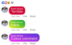 """Facebook vừa cho phép người dùng viết """"comment"""" với phông nền sặc sỡ, bạn đã có chưa?"""