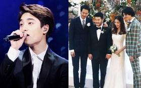 """Lộ clip hiếm hoi D.O. hát bản hit của EXO cho đám cưới diễn viên """"Vườn sao băng"""" toàn minh tinh hạng A"""