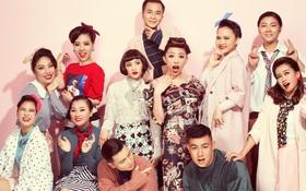 Team Tóc Tiên nổi bật với trong cách retro đầy màu sắc