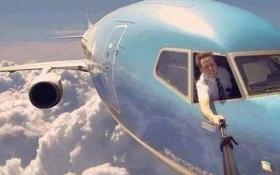 Sự thật bất ngờ đằng sau tấm ảnh selfie trên máy bay ai nhìn cũng thấy thích
