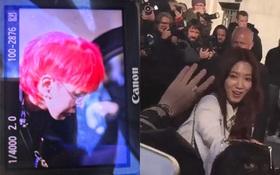 """Loạt ảnh độc quyền từ Paris: G-Dragon tóc rực """"chất phát ngất"""", Park Shin Hye giản dị bất ngờ đi dự show Chanel"""