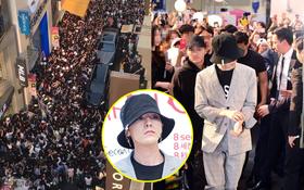 """Cả một con phố """"thất thủ"""" bởi biển fan đến xem G-Dragon tham dự sự kiện hiếm hoi"""