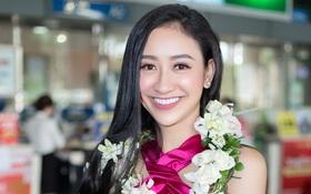 Hà Thu rạng rỡ trở về nước sau thành tích lọt vào Top 16 Miss Earth 2017
