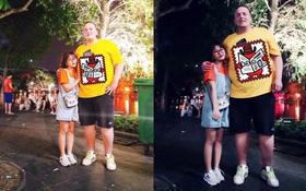 Bức ảnh kỷ niệm của cô gái và chàng Tây lệch nhau 100 kí siêu dễ thương đang dậy sóng MXH cả chiều nay