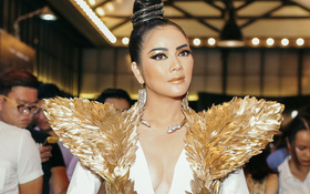 Lý Nhã Kỳ khoác cánh vàng, lộng lẫy như Nữ hoàng Ai Cập đi họp báo