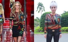 """Sau 2 năm, Thu Minh lại có thêm một pha """"phá"""" hàng hiệu Versace đi vào lịch sử"""