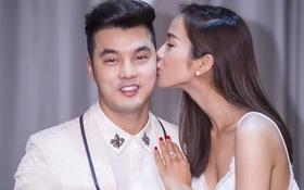 Kim Cương bí mật tổ chức sinh nhật, rụt rè hôn ông xã Ưng Hoàng Phúc trên sân khấu