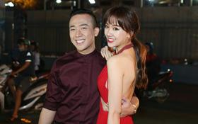 Bị nghi có bầu vì bụng bự, Hari Won đã giảm cân và diện đầm khoe chân ngực gợi cảm