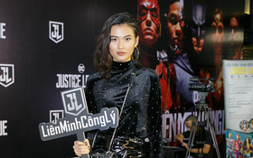 """Cao Thiên Trang diện đồ đen siêu ngầu tại sự kiện ra mắt """"Justice League"""""""