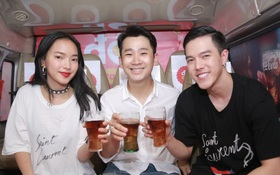 Bắt gặp Châu Bùi trên chuyến Coke Bus tại thành phố Nam Định