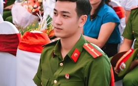 Chàng thiếu úy mới tốt nghiệp Học viện Cảnh sát Nhân dân điển trai như Idol