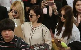 T-ara đẹp xuất sắc trong đám đông fan hỗn loạn tại sân bay Tân Sơn Nhất