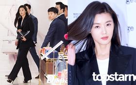 Hết gây xôn xao với nhà 650 tỉ, Jeon Ji Hyun lại xuất hiện như bà hoàng giữa dàn vệ sĩ hùng hậu