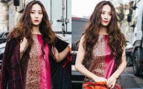 Người ta uốn tóc xoăn tít thì xấu mà chẳng hiểu sao Krystal vẫn đẹp rụng rời
