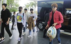 Se7en thích thú cầm nón lá, cùng SEVENTEEN trở về khách sạn