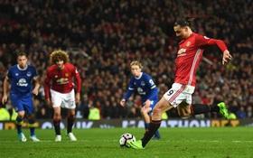 Man Utd thoát thua nhờ quả penalty phút bù giờ của Ibrahimovic