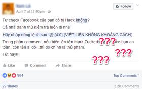 Người ta đồn comment @[4:0] để kiểm tra xem Facebook có bị hack không, nhưng sự thật là bạn bị lừa rồi