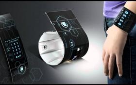 Lộ diện sáng chế smartphone uốn dẻo, đeo như vòng tay của Samsung?