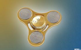 Nhiều tiền quá chẳng biết làm gì thì mua con quay fidget spinner bằng vàng để chơi