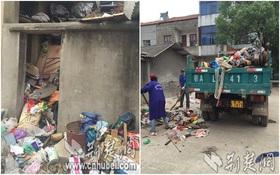 Không thể tin nổi ngôi nhà 2 tầng chứa núi rác tương đương 28 xe tải này là nơi để ở