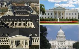 Xây nhái Nhà Trắng chưa đủ, trường Đại học Trung Quốc còn cho lai cả Tòa nhà Quốc hội Mỹ