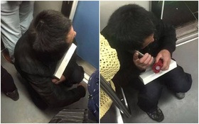 Người thợ xây nghèo ôm khư khư chiếc iPad dành dụm mua tặng con trên tàu điện ngầm khiến nhiều người xúc động