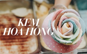 """Sài Gòn: Đi thử ngay món kem hoa hồng đang khiến cư dân mạng thế giới """"sốt xình xịch"""""""