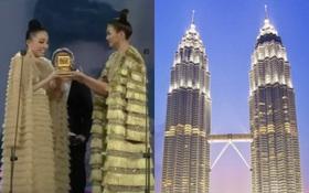 Quang Dũng kẹp giữa Tóc Tiên và Thanh Hằng trên sân khấu MAMA chẳng khác gì đang chụp ảnh check-in tại tháp đôi Petronas