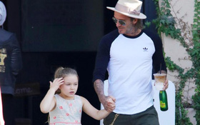 Harper điệu đà nữ tính đi ăn cùng bố, Beckham xua tan tin đồn gia đình rạn nứt