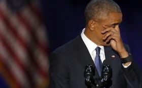 Ông Obama rơi nước mắt cảm ơn vợ trong bài phát biểu chia tay