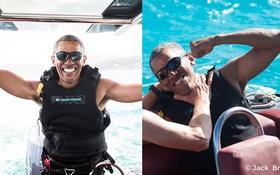 Không chỉ chơi golf giỏi, Tổng thống Barack Obama còn lướt ván diều rất chuyên nghiệp