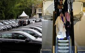 Vua Ả Rập công du Nhật Bản với hàng trăm chiếc limousine và hơn 1.000 người tháp tùng