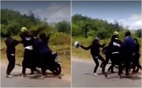Xôn xao 2 nhóm nữ sinh đánh nhau dã man giữa đường ở Quảng Nam